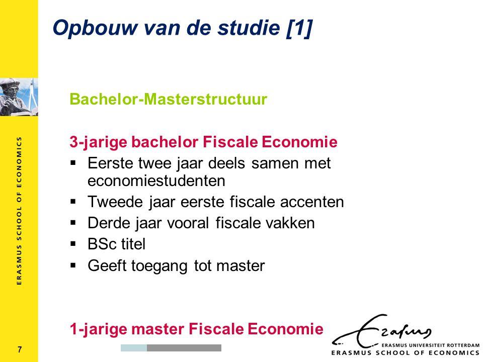 Opbouw van de studie [1] Bachelor-Masterstructuur